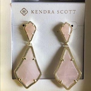 Kendra Scott Pink Gold Alexa Drop Earrings